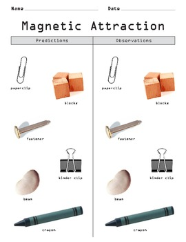 Magnetic Attraction Experiment: Predictions and Observations