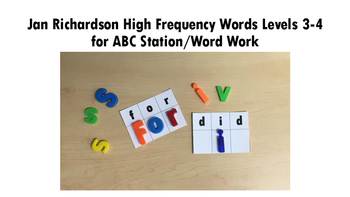 ABC Station/Word Work Jan Richardson High Frequency Words