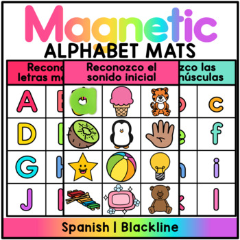 Magnetic Letter Center Spanish