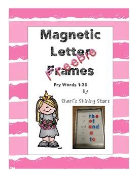 Magnetic Letter Frames Fry Words