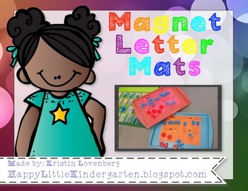 Magnetic Letter Mats - Letter Identification Activity