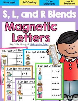 Blends: S, L ,and R Magnetic Letter Blends