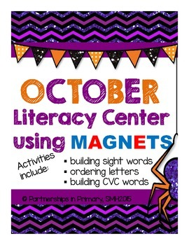 Magnetic Literacy Center (October/ Halloween Theme)