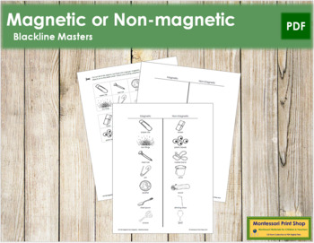 Magnetic & Non-Magnetic - Blackline Masters