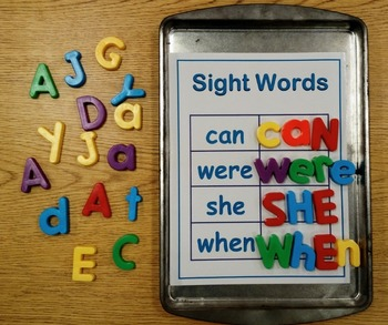 Cookie Sheet Magnetic Sight Words Fry Words 2