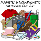 Magnetic and Non-Magnetic Materials Clip Art