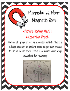 Magnetic and Non-Magnetic Sorting Picture Card Sort and Re