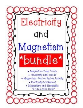 Electricity & Magnetism *BUNDLE*  (Task Cards, Worksheets,