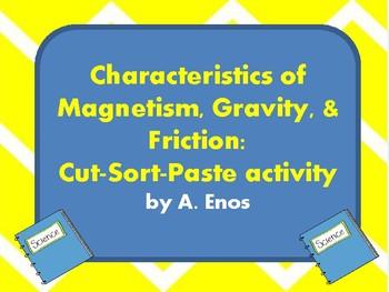 Magnetism Gravity Friction: Cut-Sort-Paste activity