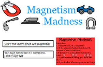 Magnetism Madness Board Game