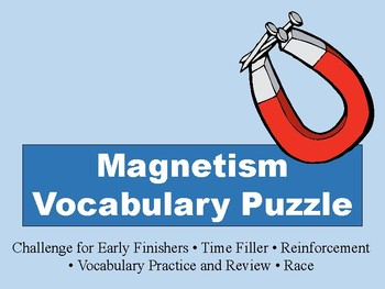Magnetism Vocabulary Puzzle
