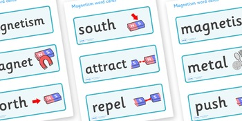 Magnetism Word Cards