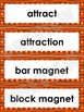 Magnetism Word Wall Words- Editable