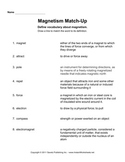 Magnetism Worksheet