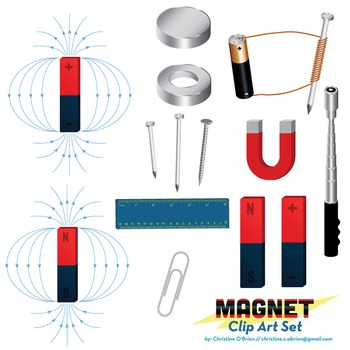 Magnets Clip Art Set