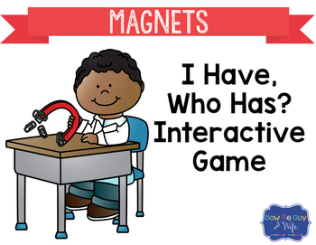 "Magnets Interactive Vocabulary Game ""I Have, Who Has?"" Cards"