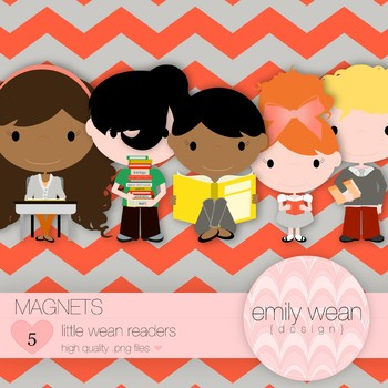 Magnets - Little Readers Clip Art
