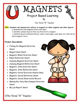 Magnets Project Based Learning Unit