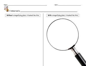Magnifying Glass Observation Sheet