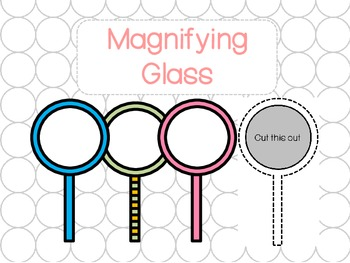 Magnifying Glass - Student Detective (w/ Black and White v