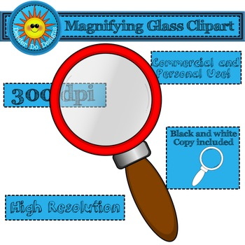 Magnifying Glass clipart-FREEBIE