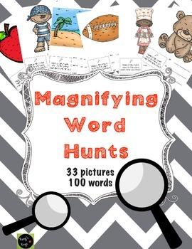Sight Word Hunts (3 words per hunt)