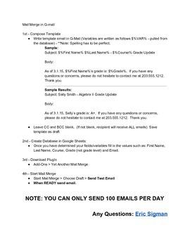 Mail Merge Using Google