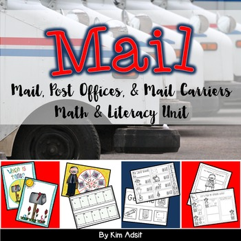 Mail, Post Offices, and Mail Carriers Math and Literacy Un