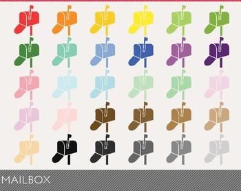 Mailbox Digital Clipart, Mailbox Graphics, Mailbox PNG