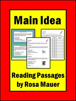 Main Idea! Literacy Task Cards