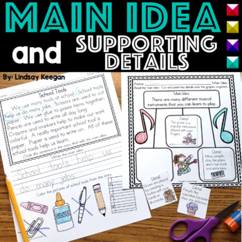 Main Idea Practice Pages for Primary Students