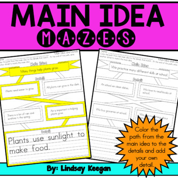 Main Idea Mazes