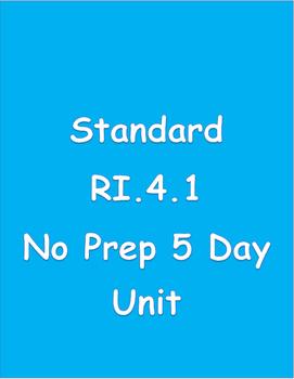 Main Idea 5 Day Lesson Plan