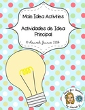 Main Idea Activities and Printables / Actividades de Idea