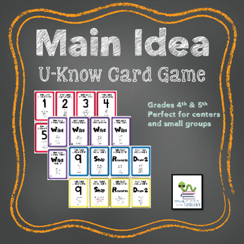 Main Idea Card Game
