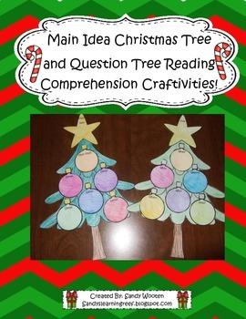 Main Idea Christmas Tree & Question Tree Comprehension Boo