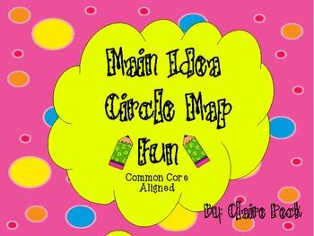 Main Idea Circle Map Fun:Common Core Aligned