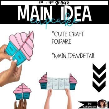 Main Idea Cupcake Craftivity