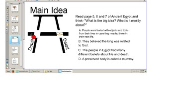 """Main Idea, Details, Comprehension of a Reading A-Z book """"A"""