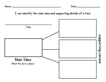 Main Idea & Details - Cut & Sort