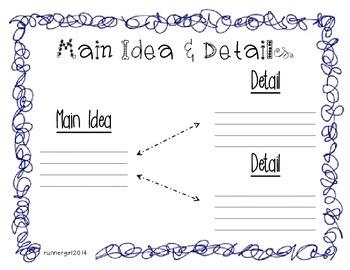 Main Idea & Details Graphic Organizer