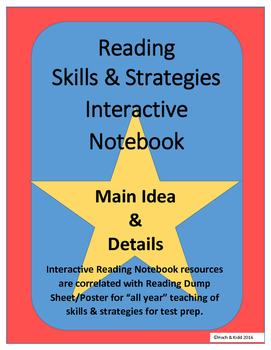 Main Idea & Details Interactive Notebook for Any Story