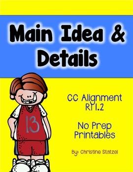 Main Idea & Details {No Prep Printables}