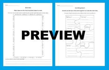 Main Idea & Details Puzzle Activity: Cut Out Details to Fo