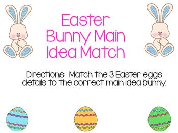 Main Idea Easter Bunny & Easter Egg Match