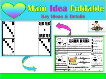 Main Idea Fiction & Non-Fiction Foldable