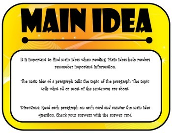 Main Idea Flip Cards {FREEBIE!!!}