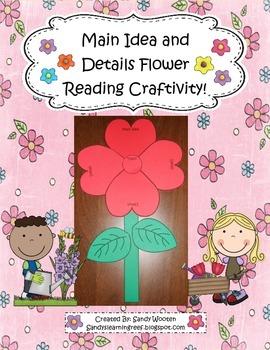 Main Idea Flower Reading Comprehension Craftivity!