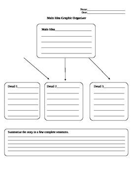 Main Idea Graphic Oragnizer (Higher Level)