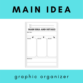 Main Idea Graphic Organizer
